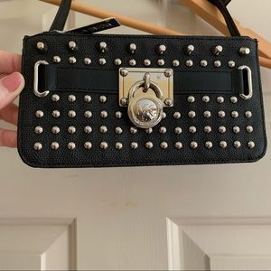 Amazing Michael Kors belt bag studded leather